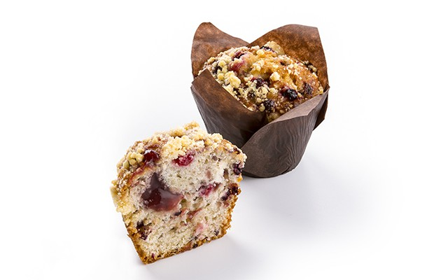MUFFIN MULTISEEDED WITH RED FRUITS 110GR 20ST PANESCO (5001605)