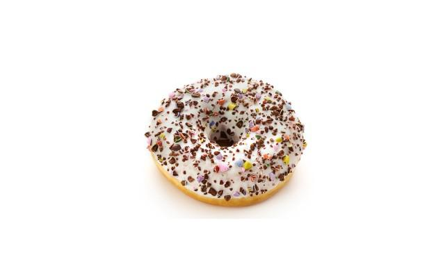 DONUT WIT CRUNCHY CANDY TS 58GR 48ST DAUPHINE (2104234)